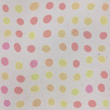 Seamless old paper texture with colorful polka dots Royalty Free Stock Images
