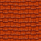 Seamless Old Red Wood Roof Tiles Stock Image