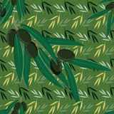Seamless olive pattern background Stock Photos