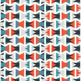 Seamless olorful abstract orange and blue geometric horizontal pattern texture element.  Royalty Free Stock Images