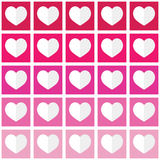 Seamless ombre pattern with hearts - Valentine's Day, love concept Royalty Free Stock Image