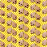 Seamless onions pattern Stock Photography