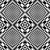 Seamless op art geometric pattern. vector illustration