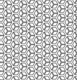 Seamless op art geometric pattern. 3D illusion. Seamless op art geometric hexagons pattern. 3D illusion stock illustration