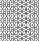 Seamless op art geometric pattern. Seamless op art geometric hexagons and diamonds pattern. 3D illusion stock illustration
