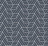 Seamless op art pattern. 3D illusion. Royalty Free Stock Image