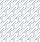 Seamless op art pattern. 3D illusion. Stock Images