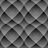 Seamless op art pattern. 3D illusion. Stock Photo