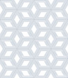 Seamless op art pattern. 3D optical illusion. Stock Images
