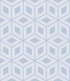 Seamless op art pattern. 3D optical illusion. Geometric texture. Royalty Free Stock Image