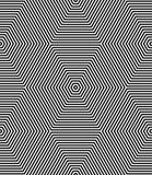 Seamless op art pattern. Geometric lines texture. Stock Image