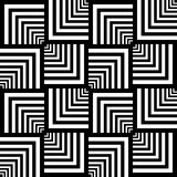 Seamless op art pattern. Geometric texture. Stock Photos