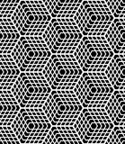 Seamless op art pattern. Latticed structure. Stock Image