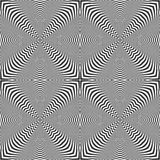 Seamless op art pattern. Lines texture. Royalty Free Stock Photography