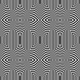 Seamless op art pattern. Striped lines teture. Royalty Free Illustration