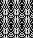 Seamless op art pattern. Stock Photo
