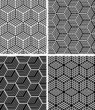 Seamless op art patterns. Royalty Free Stock Photo