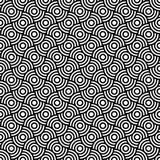Seamless op art texture. Royalty Free Stock Image