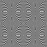 Seamless op art texture. Zebra pattern design. Stock Image