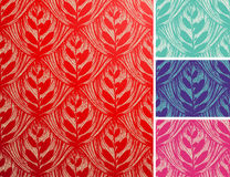 Seamless openwork floral pattern. Royalty Free Stock Images