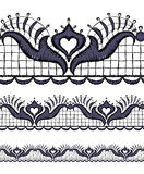 Seamless openwork lace Stock Photos