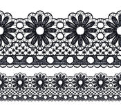Seamless openwork lace Stock Images
