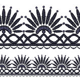 Seamless openwork lace Royalty Free Stock Photos