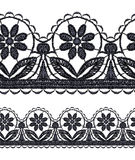 Seamless openwork lace Royalty Free Stock Image