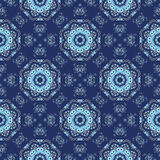 Seamless openwork pattern in the form of snowflakes or lace napk Stock Photography