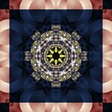 Seamless openwork pattern. You can use it for invitations, noteb Stock Photography