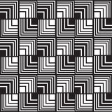 Seamless optical art pattern background vector black and white Royalty Free Stock Photo