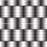 Seamless optical art pattern background vector black and white Royalty Free Stock Photos