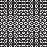 Seamless optical art pattern background vector black and white Royalty Free Stock Photography