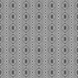 Seamless optical art pattern background vector black and white Stock Photo