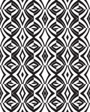 Seamless optical art pattern background vector black and white Stock Photos