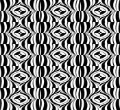Seamless optical art pattern background vector black and white Royalty Free Stock Images