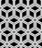 Seamless optical ornamental pattern with three-dimensional geome Stock Photography