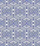 Seamless optical ornamental pattern with three-dimensional geome Royalty Free Stock Photo