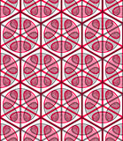 Seamless optical ornamental pattern with three-dimensional geome Stock Photos