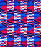Seamless optical ornamental pattern with three-dimensional geome Stock Photo