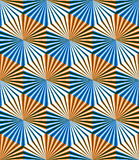 Seamless optical ornamental pattern with three-dimensional geome Stock Images