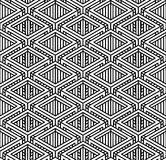 Seamless optical ornamental pattern Stock Image