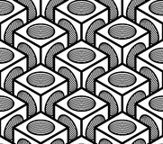 Seamless optical ornamental pattern, three-dimensional Stock Photo