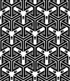 Seamless optical ornamental pattern with three-dimensional Stock Photos