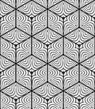 Seamless optical ornamental pattern, three-dimensional geometric Royalty Free Stock Photos