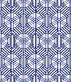 Seamless optical ornamental pattern with three-dimensional geometric Stock Photos
