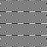 Seamless optical pattern of triangles. The optical pattern. Black and white triangles in geometry Stock Photography