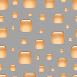 Seamless orange abstract geometric pattern. Royalty Free Stock Image