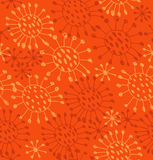 Seamless orange abstract pattern. Endless decorative hand drawn background Royalty Free Stock Image