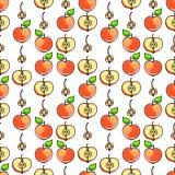 Seamless orange apples Royalty Free Stock Photos